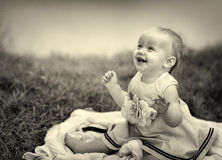 Baby at the Lake Stock Photography