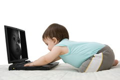 Baby laptop Stock Photo