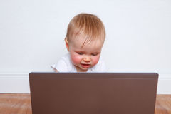 Baby laptop Stock Image
