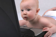 Baby Laptop Two Stock Photo