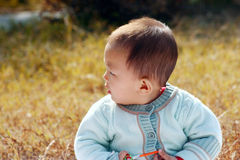 Baby laughing Royalty Free Stock Image