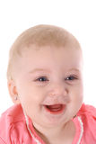 Baby laughing. Shot of a baby laughing Stock Image