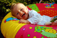 Baby laughing Stock Photos