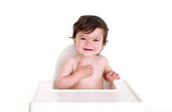 Baby laughing - Gorgeous! Royalty Free Stock Image