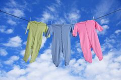 Baby laundry Stock Image