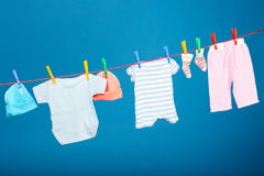 Baby laundry Royalty Free Stock Images