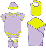 Baby Layette  - vector illustration Stock Images