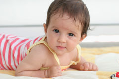 Baby laying Royalty Free Stock Photography