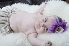 Free Baby Laying On Her Back Stock Photography - 15167652