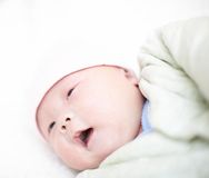 Baby learn to speak Royalty Free Stock Photography