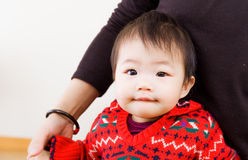 Baby learn to walk Royalty Free Stock Photo