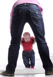 Baby learning how to walk Royalty Free Stock Photography