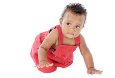 Baby learning to walk Royalty Free Stock Photo
