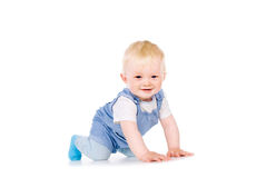 The baby learns to crawl Royalty Free Stock Photos