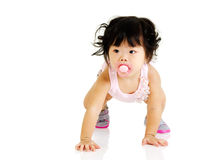 Baby learns to walk Stock Image