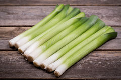 Baby leeks vintage Royalty Free Stock Photo