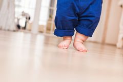 Baby legs. First steps. Royalty Free Stock Photos