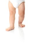 Baby legs isolated Royalty Free Stock Images