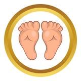 Baby legs vector icon, cartoon style Royalty Free Stock Photos