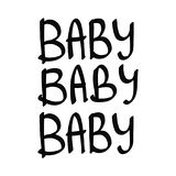 Baby baby baby lettering words royalty free illustration