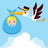Baby-Lieferungs-Storch Lizenzfreie Stockfotos