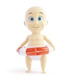 Baby lifebuoy Royalty Free Stock Photos