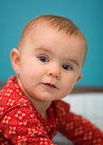Baby lifting head stock images