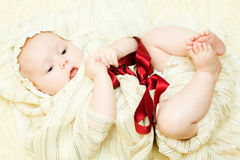 Baby like a gift Stock Images