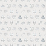 Baby line icon pattern set Stock Images