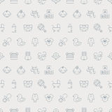Baby line icon pattern set Royalty Free Stock Photography