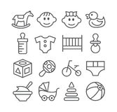 Baby line icons Stock Photos