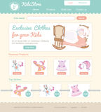 Baby on line store web template Royalty Free Stock Images