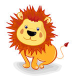 Baby lion. Isolated in white background Royalty Free Stock Image