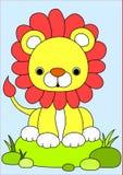 Baby lion cartoon Royalty Free Stock Image