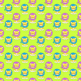 Baby Lions Seamless Background Stock Images