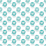 Baby Lions Seamless Pattern Royalty Free Stock Image
