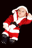 Baby little father christmas. Isolated baby  with little outfit of father christmas Royalty Free Stock Image