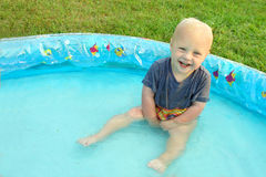 Baby in Little Pool Royalty Free Stock Photos