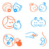 Baby logo elements. Design elements for babies, pregnancy, maternity logos or icons Vector Illustration