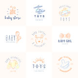 Baby logos set. Royalty Free Stock Images