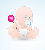 Baby with Lollipop stock illustration