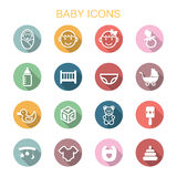 Baby long shadow icons Royalty Free Stock Photography