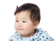 Baby looking aside Stock Image