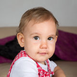 Baby looking into camera Stock Images