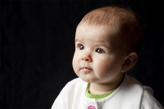 Baby looking to future Royalty Free Stock Photography