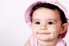 Baby looking up Royalty Free Stock Photography