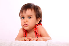 Baby looking up Royalty Free Stock Photo