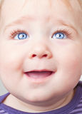 Baby looking up Stock Images