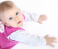 Baby looking up Stock Photos