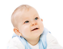 Baby looking up Royalty Free Stock Images